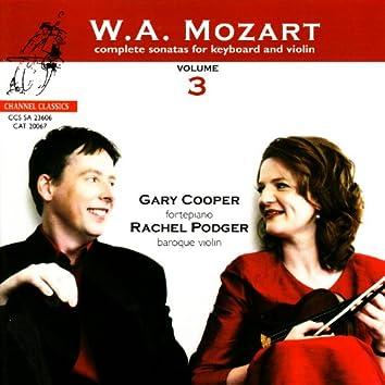Mozart: Complete Sonatas for Keyboard and Violin, Vol. 3