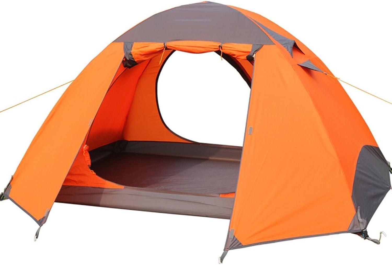 LJHA zhangpeng Tent Double Rainproof Aluminum Pole Tent Outdoor Camping 34 Tents Camping Tent 2 color Optional Dome Tents