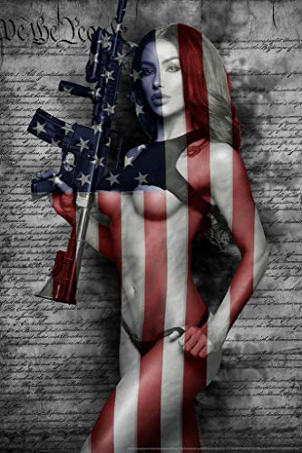 2nd Amendment by Daveed Benito Hot Girl Poster 24x36 inch