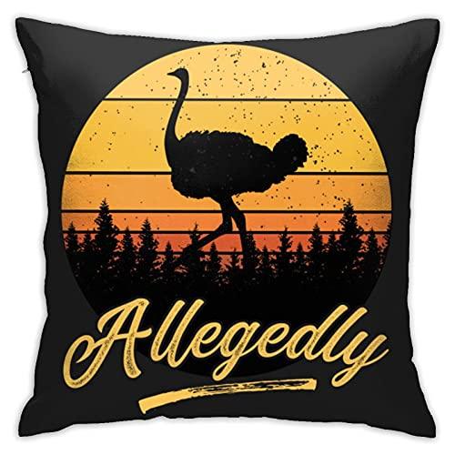 Letterkenny - Funda de cojín con diseño de avestruz, estilo retro, diseño vintage