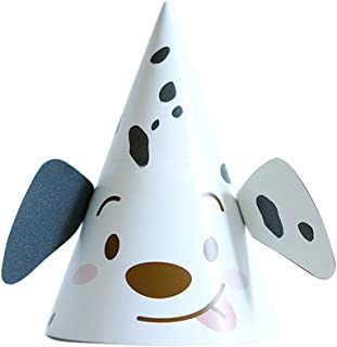 Remeehi Happy Birthday Party Decoration Child Cartoon Pattern Birthday Paper Hat Cap Event Kids Party Supplies Spotted Dog S