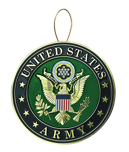 Allied Products Army Heroes Series Holiday Ornament - Officially Licensed Army Medallion - Die-cast Metal and Gold Plating