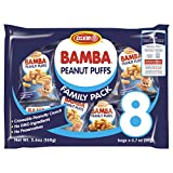 Osem Bamba Peanut Snacks for Babies - All Natural Baby Peanut Puffs Family Pack (Pack of 8 x 0.7oz Bags) - Peanut Butter Puffs made with 50% peanuts.