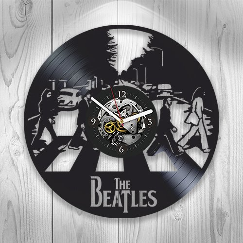 Beatles Clock, Beatles Vinyl Wall Clock, Beatles New Year Gift, Wall Clock Modern, Vintage Vinyl Record, Beatles Gift for Man Beatles Xmas Gift, Rock Music, John Lennon, Wall Clock Large