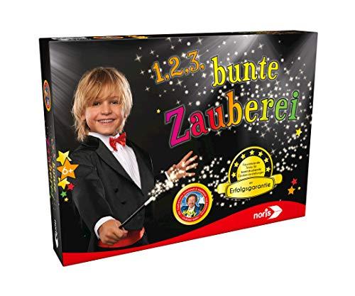 Noris 606321164 1,2,3, … Bunte Zauberei, der Basis Zauberkasten mit Erfolgsgarantie, für Zauberer ab 6 Jahren