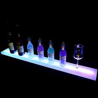 D&F Bebidas estantes de iluminación Home Bar Botella de estanterías,LED Botella del Licor Pantalla iluminada Botella con Control Remoto Encendido