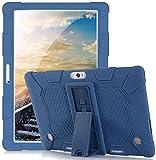 RLTech Funda Carcasa para MEBERRY 10, Silicona TPU Flexible con Soporte Función Funda Protectora Case para HAOQIN H10/Artizlee ATL-31/BEISTA X101 K107/Dragon Touch K10/LNMBBS 10.1, Azul