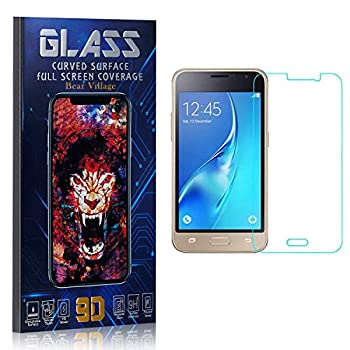 Tempered Glass Screen Protector for Galaxy J1 Ace Bear Village HD Crystal Clear Screen Protector Film for Samsung Galaxy J1 Ace Bubble Free 9H Hardness 3 Pack