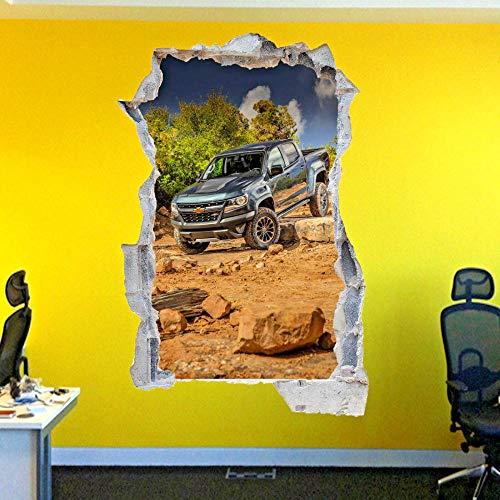 DCJ etiqueta de la pared Tripulación taxi transferencia pegatinas de pared calcomanías de arte 3D decoración de la oficina de la habitación mural