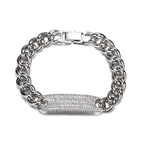 Bracelets populaires, Girlfriends argent simple bracelet de montre, chaîne en métal ondulé