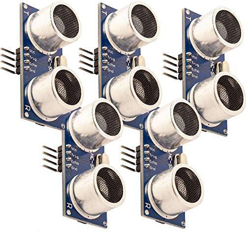 AZDelivery 5 x HC-SR04 Ultraschall Modul Entfernungsmesser Sensor für Raspberry Pi und Arduino mit gratis eBook!