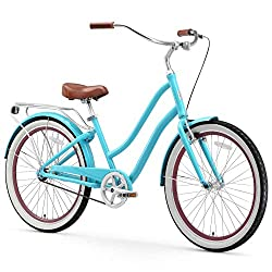 in budget affordable Sixthreezero EVRYjourney 7-speed hybrid cruising bike, for women, 26-inch wheels, …