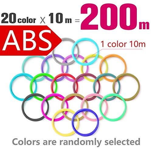 W-Shufang,3D 3D Printing Pen pla 1.75mm abs Filament 20 Color Choose Best Gift for Kids Perfect 3D Pen 3D pens Environmental Safety Plastic (Color : Abs4)