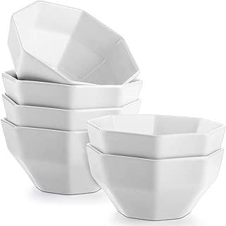 DOWAN Porcelain Dessert Bowls, 6 Packs, White