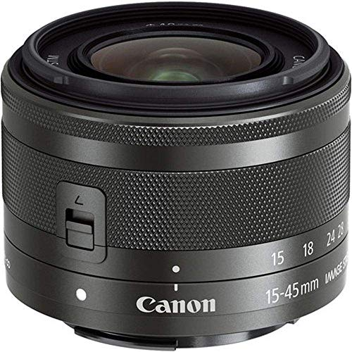Canon standard zoom lens EF-M15-45mm F3.5-6.3IS STM (graphite) mirror-less SLR corresponding...