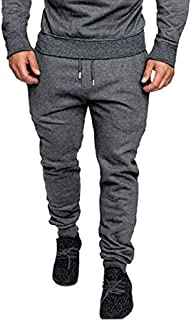 Stoota Jogger Cargo Pants for Men, Combat Drawstring Chino Trousers Stitching Feet Sports Pants with Multi Pockets