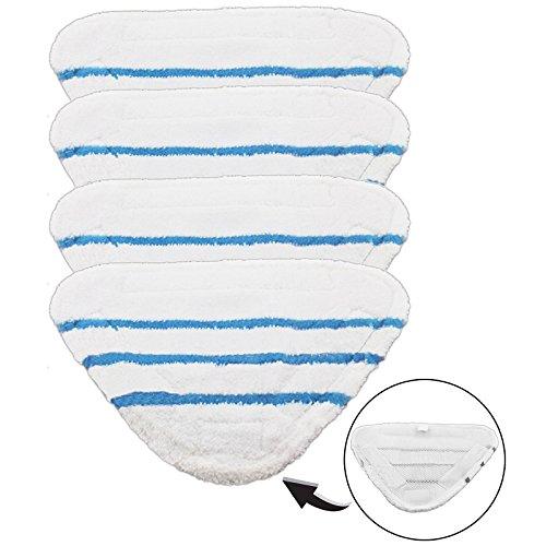 SPARES2GO Wasbare Cover Pads voor Beldray 5-in-1 9-in-1 Stoomreiniger Mop (Pak van 4)