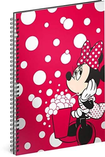 Spiralblock A5 liniert - Notizbuch für Kinder, Schule, Büro - Notizblock mit 60 Seiten (Minnie - Red)