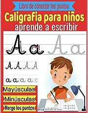 Caligrafia para niños-aprende a escribir,mayúsculas,minúsculas,Libro de conectar los puntos: cuadernos para aprender a escribir,aprender la escritura cursiva Para Niños de 5 años y mas