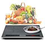 Portable Double Induction Cooktop 2400W 120V Energy-saving Dual Induction Burner with Digital Sensor...