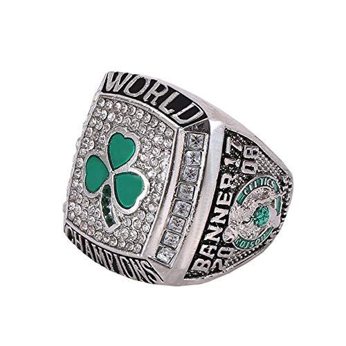 WSTYY 2008 NBA Celtics Championship Ring Anillos de Hombre, Championship Anillo de réplica Personalizado Anillos de Diamantes para Hombres,Without Box,11