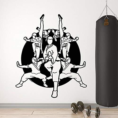 JXFM 75x88cm 3D DIY Artes Marciales Tatuajes de Pared Luchador Boxeo Deportes Vinilo Etiqueta de la Ventana Karate Escuela Adolescentes Dormitorio Gimnasio Decoración de Interiores Papel t