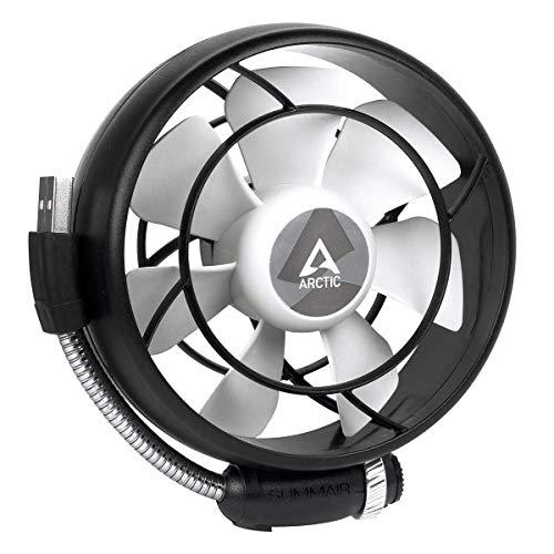 ARCTIC Summair Light Mobiler USB Ventilator für den Schreibtisch, Tischventilator / Standventilator, geräuscharmes Betriebsgeräusch, 900-2100 U/min, schwarz