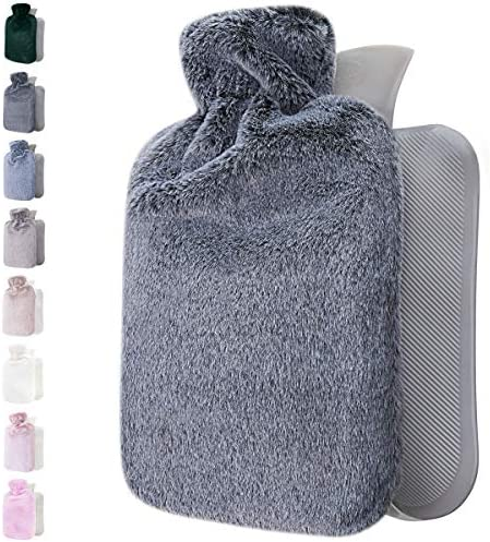 Hot Water Bottle with Soft Cover 1 8L Large Hot Water Bag for Pain Relief Neck and Shoulders product image