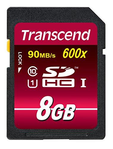 Transcend TS8GSDHC10U1 - Tarjeta de memoria SDHC de 8 GB