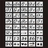 Plantillas de letras para pintar sobre madera con letras de caligrafía, letras mayúsculas y...