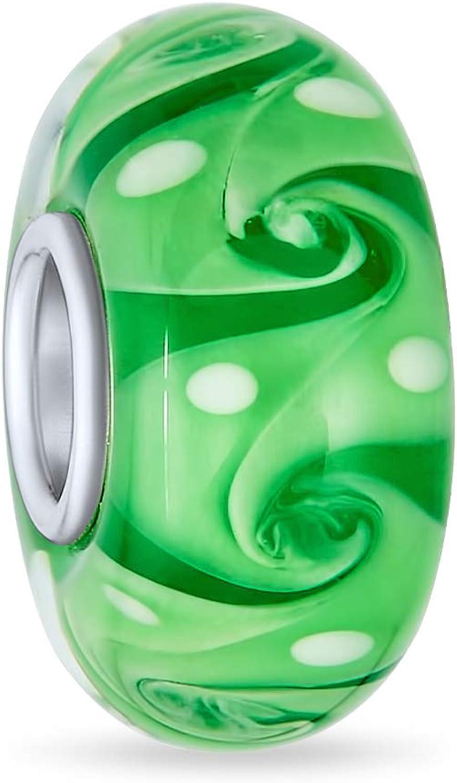 Murano Max 71% OFF Glass Green Red Blue Aqua Luxury goods Bead Wave Fi Swirl Charm Spacer