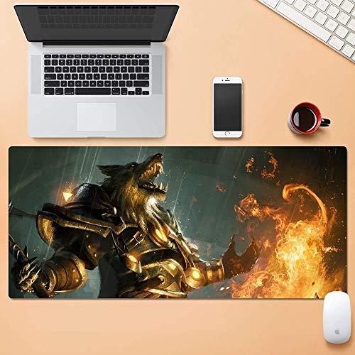 CFTGB Gaming Mouse Pad Grote Muis Mat Wereld van Warcraft WOW Weerwolf Vlam Spel Toetsenbord Mat Office Mousepad voor Computer Desktop PC Mouse Pad