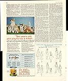 Puss 'N Boots Cat Food Ten Years Playful As A Kitten 1958 Antique Advertisement