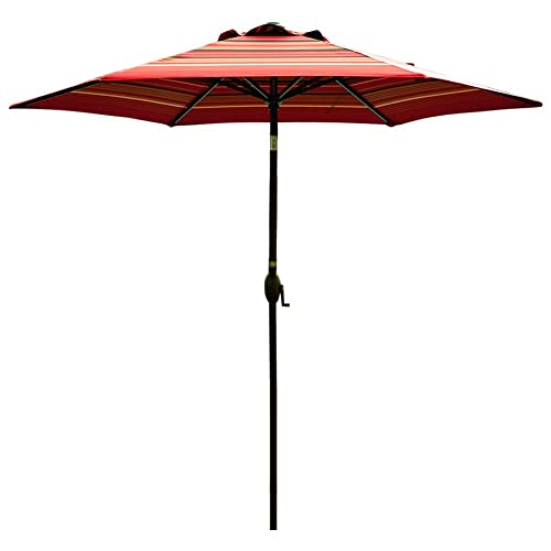 Striped Patio Umbrellas Amazon Com
