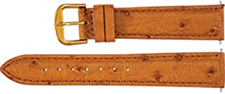 Men`s Regular Genuine Ostrich Padded Watch Strap