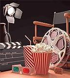Juego de funda nórdica de 3 piezas para sala de cine, Objects of the Film Industry Concepto de cinematografía cinematográfica de Hollywood, 3 piezas de edredón / juego de funda Qulit con 2 fundas de a