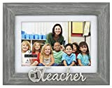 Malden International Designs Number 1 Teacher Table Top Picture Frame, Gray