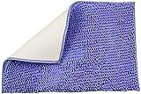 YIQI Alfombra de baño de Felpa de Microfibra de Chenilla, Suave y acogedora, Agua súper Absorbente, Antideslizante, Gruesa para Dormitorio de baño (60x40 cm, púrpura)