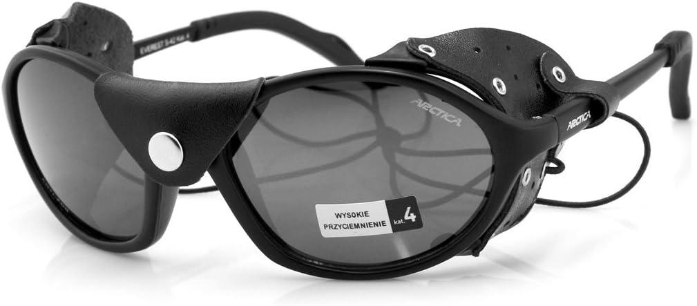 Gafas de sol polarizadas S-42P *EVEREST* Protección contra el viento y el sol Escudos de cuero