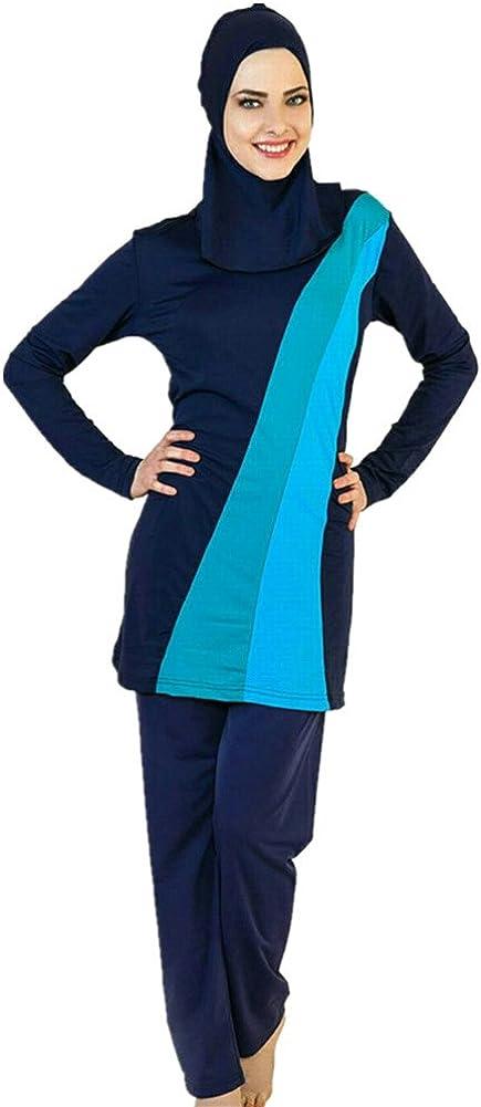 YEESAM Muslimischen Badeanzug Muslim Islamischen Bescheidene Badebekleidung Modest Swimwear Burkini f/ür muslimische Frauen Hijab abnehmbaren