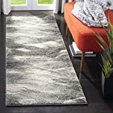Safavieh Retro Collection RET2891-8012 Modern Abstract Grey and Ivory Area Rug (2'6' x 4')