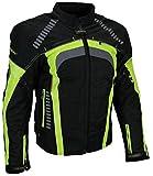 Sportliche Motorrad Jacke Motorradjacke Heyberry Schwarz/Neon Gr. L