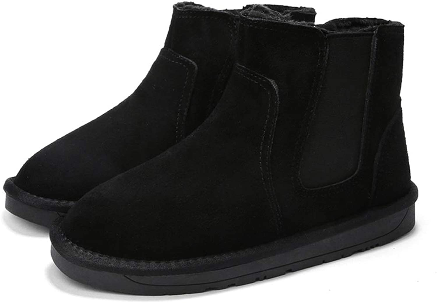 Men and Wonmen Classic Solid color Winter Faux Fleece Inside Home shoes Fashionable Snow Boots Casual
