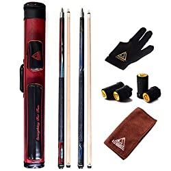 professional Billiard House Bar Pool Cue Soul Combo Cue – 2 cues in one case for billiards 2×2 E102