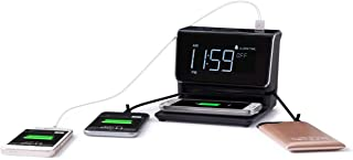 Kube Essentials Power Hub Wireless Charging Alarm Clock Charge Devices with Built in Qi..