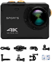 4K WiFi Sports Action Camera Ultra HD Waterproof DV Camcorder 16MP 150 Degree Wide Angle 2 Inch LCD Screen and Mounting Ac...