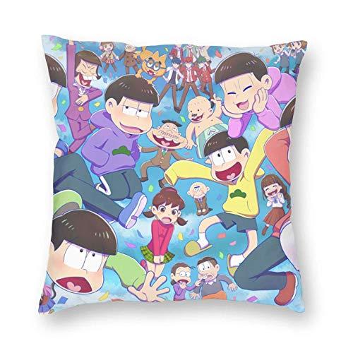 Osomatsu Anime Fundas de cojín Decorativas para sofá Personalizadas Fundas de Almohada