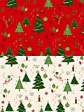 Fabrics-City 2M Ecru Weihnachten Bedruckt Tannenbaum