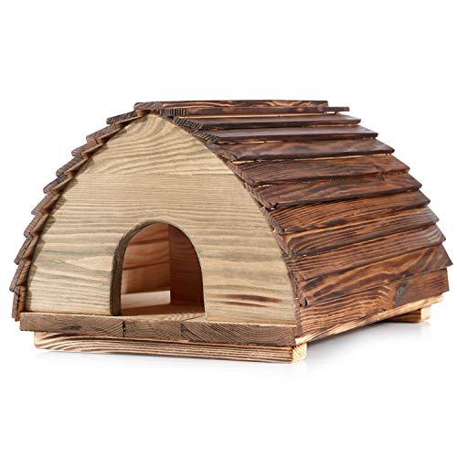 Professionell hergestelltes Öko-Igel-Haus–Massivholz-Konstruktion mit Deckel