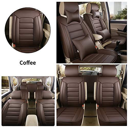 Fundas Asiento Coche de Piel para Nissan Navara 370Z GT-R March Todas Las Estaciones 7 Asientos Cubr
